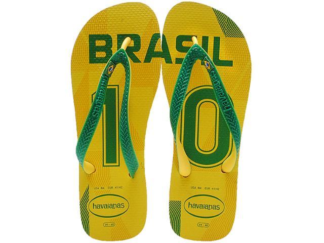 Chinelo Masculino Havaianas Teams ii Brasil Amarelo/verde