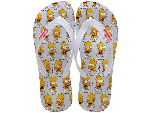 Chinelo Masculino os Simpsons Sm0016 Branco