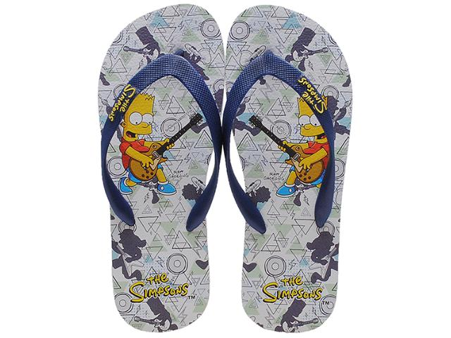 Chinelo Masculino os Simpsons Sm0010 Branco/marinho