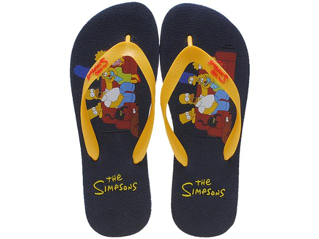 Chinelo Masculino os Simpsons Sm0020 Marinho/amarelo
