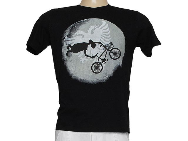 Camiseta Masculina Cavalera Clothing 01.01.7387 Preto