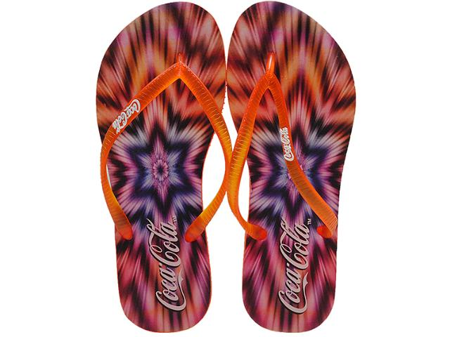 Chinelo Feminino Coca-cola Shoes Cc0507 Laranja