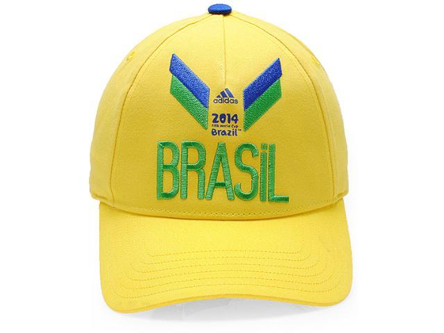 Boné Unisex Adidas D84377 3s Brasil Amarelo