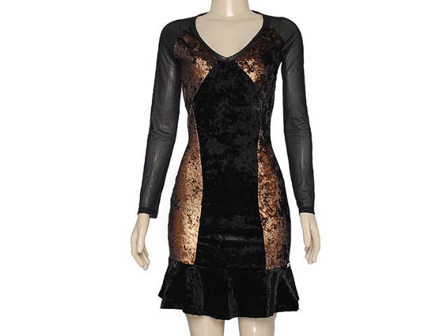 Vestido Feminino Index 13.02.000285 Preto/bronze
