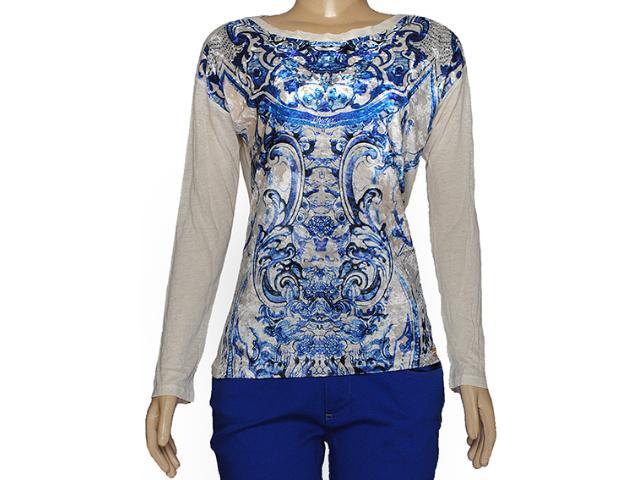 Blusa Feminina Index 05.06.000223 Estampado Cru/azul