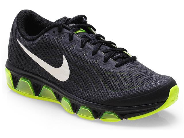 Tênis Masculino Nike 621225-017 Air Max Tailwind 6 Preto/limão