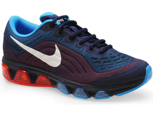 Tênis Masculino Nike 621225-414 Air Max Tailwind 6 Preto/azul/vermelho