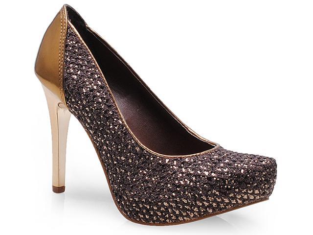 Sapato Feminino Tanara 5603 Bronze/ouro Velho