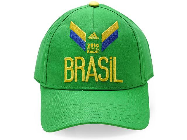 Boné Unisex Adidas D84378 3s Brasil Verde