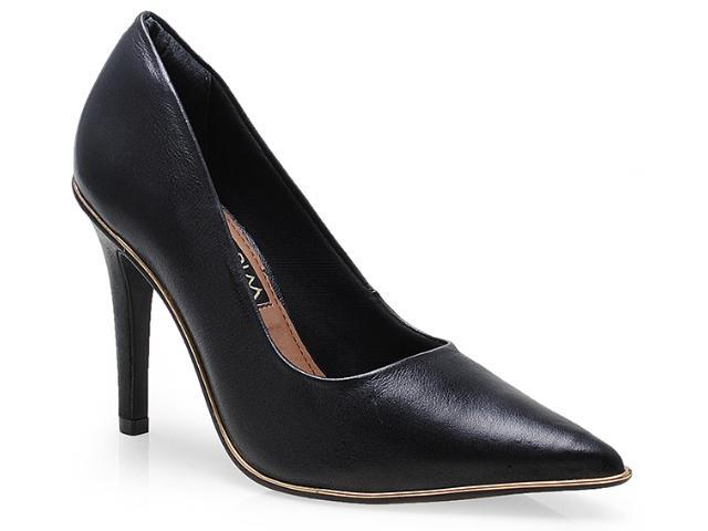 Sapato Feminino Ramarim 14-24104 Preto/ouro