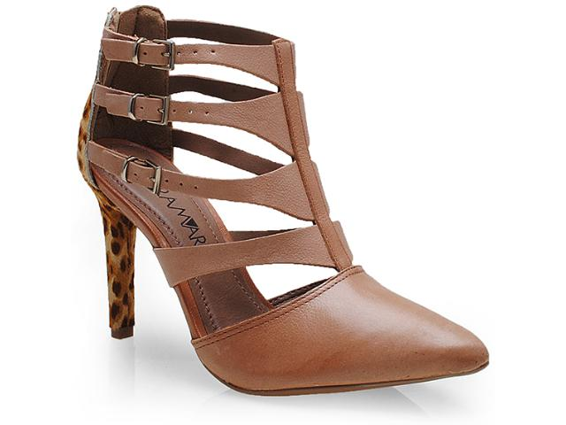 Sapato Feminino Ramarim 14-75102 Caramelo/onca