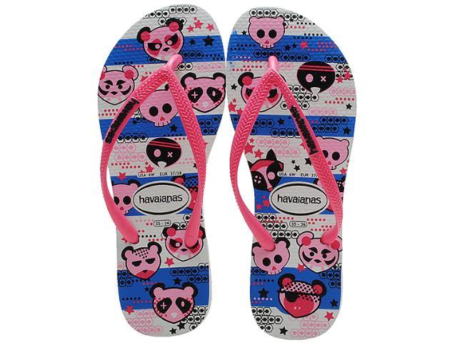 Chinelo Feminino Havaianas Slim Cool Branco/pink