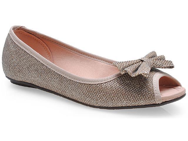 Peep Toe Feminino Moleca 5011957 Dourado