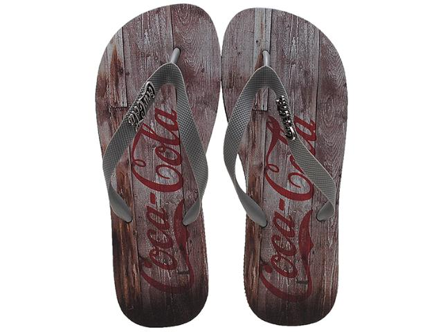 Chinelo Masculino Coca-cola Shoes Cc0354 Preto/grafite