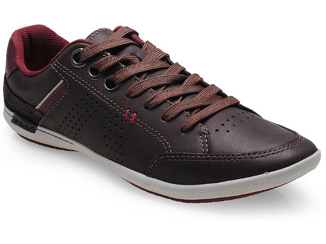 Sapatênis Masculino West Coast 114402/4 Brown/vinho