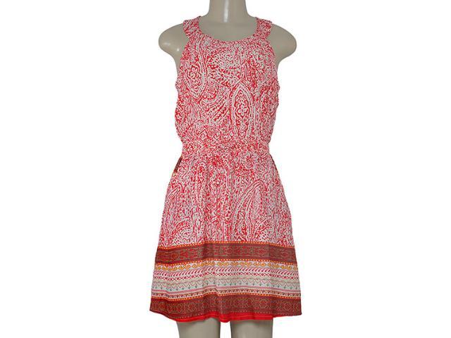 Vestido Feminino Alpelo 80425 Estampado Vermelho/off White