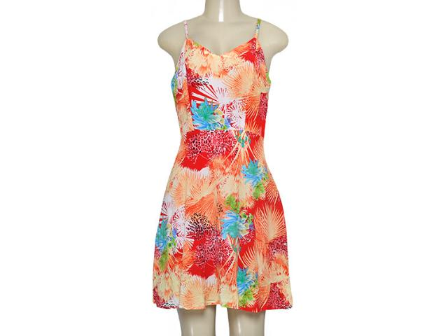 Vestido Feminino Alpelo 80463 Estampado Laranja