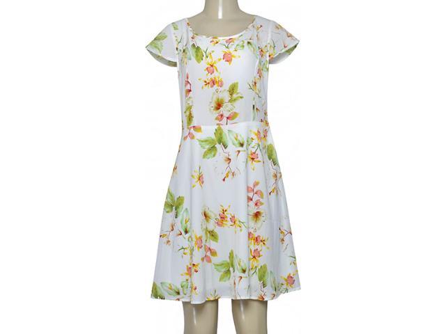 Vestido Feminino Alpelo 854 Off White Floral