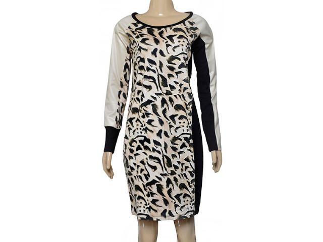 Vestido Feminino Borda Barroca 4001204 Bege/cru