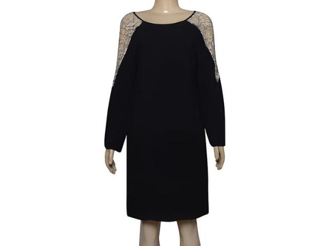Vestido Feminino Borda Barroca 4001206 Preto