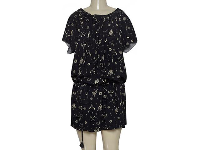 Vestido Feminino Cavalera Clothing 11.01.1198 Preto Estampado