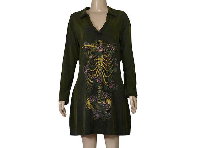 Vestido Feminino Cavalera Clothing 11.03.1001 Verde Militar