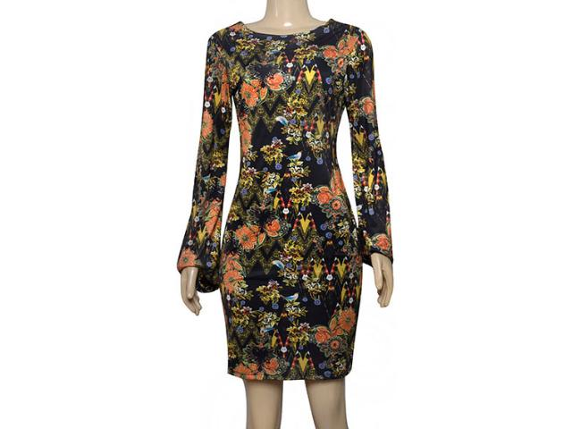 Vestido Feminino Cavalera Clothing 11.03.1010 Preto Floral