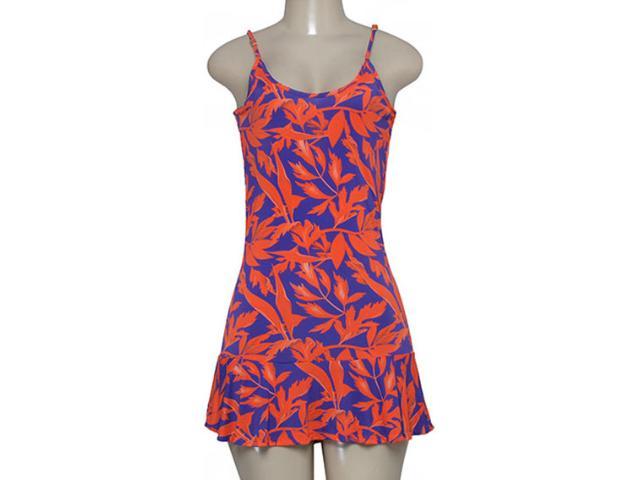 Vestido Feminino Cia Maritima 379872 Roxo/vermelho