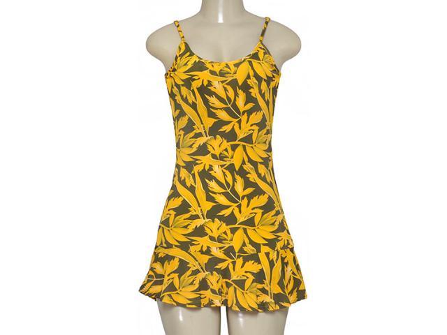 Vestido Feminino Cia Maritima 379282 Amarelo/verde