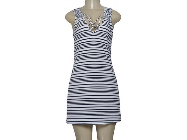 Vestido Feminino Cia Maritima 1715 500 Branco/preto