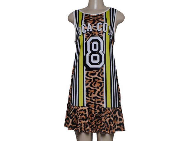 Vestido Feminino Coca-cola Clothing 443201700 Off White/onça