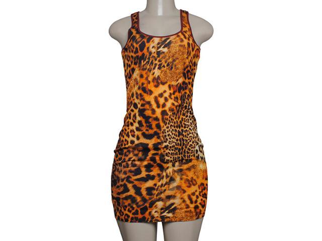 Vestido Feminino Coca-cola Clothing 443201647 Vinho/onca