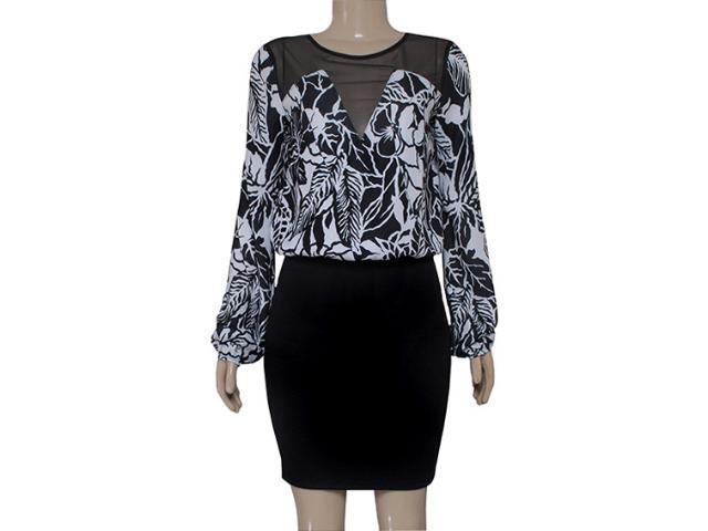 Vestido Feminino Coca-cola Clothing 443201861 Preto/branco