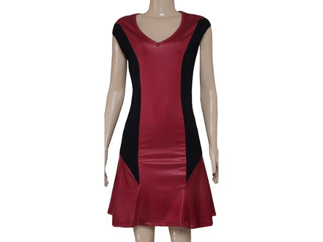 Vestido Feminino Coca-cola Clothing 443201560 Preto/bordo