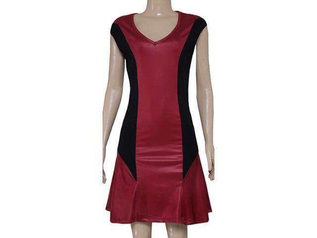 Vestido Feminino Coca-cola Clothing 443201560 Preto/bordo