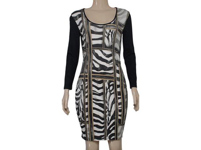 Vestido Feminino Coca-cola Clothing 443201859 Preto Estampado Bege