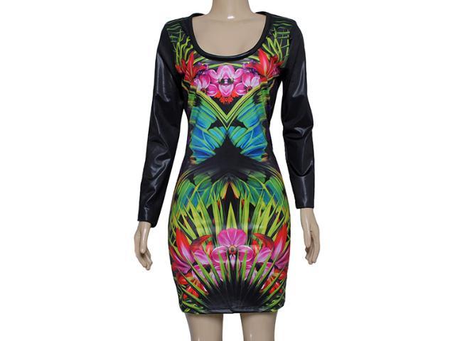 Vestido Feminino Coca-cola Clothing 443201561 Estampado Preto