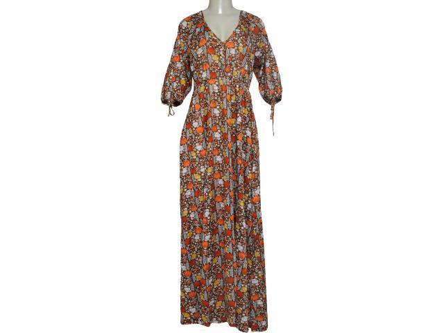 Vestido Feminino Dona Florinda 63355 Marrom