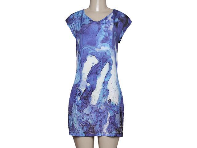 Vestido Feminino Dopping 018058635 Preto/azul
