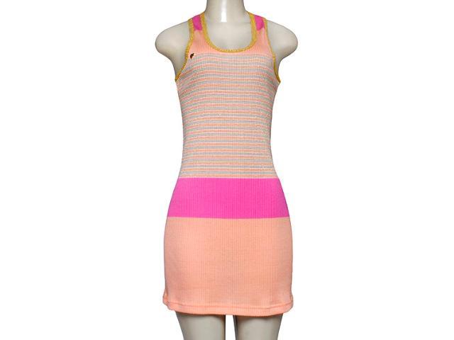 Vestido Feminino Dopping 018052571 Salmão/rosa/dourado