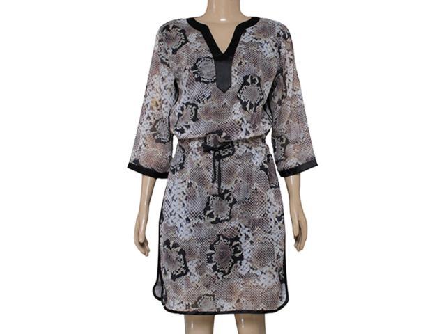 Vestido Feminino Dopping 018060023 Preto/cobra