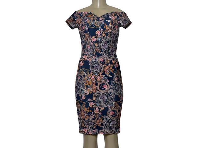 Feminino Vestido Dopping 018067017 Azul Estampado