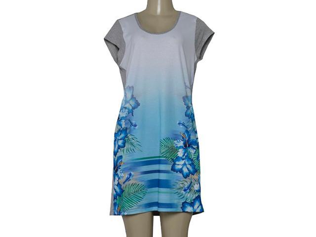 Vestido Feminino Dopping 018068519 Branco/azul/mescla