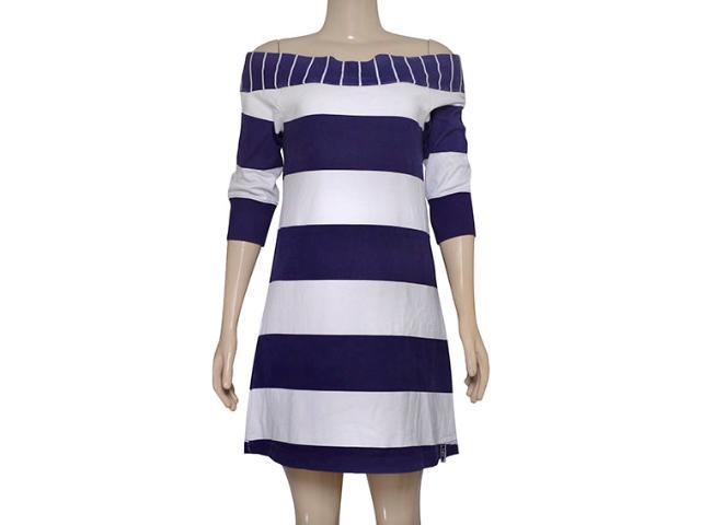Vestido Feminino Hering 0994/1b00s Branco/violeta