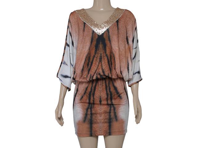 Vestido Feminino Intuição 142211 Leopardo