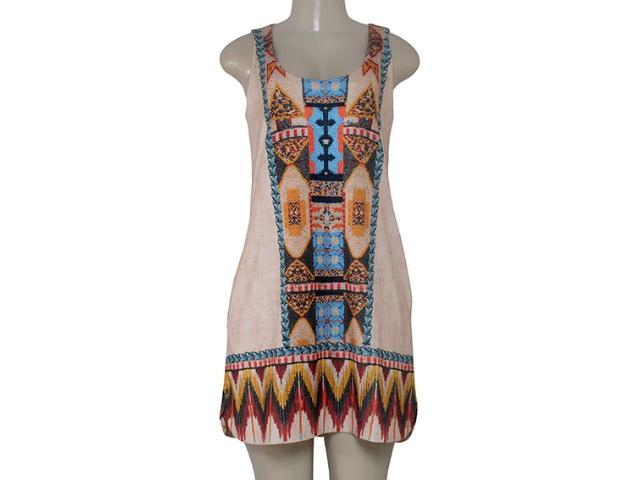 Vestido Feminino Intuição 152641 1953 Bege Estampado
