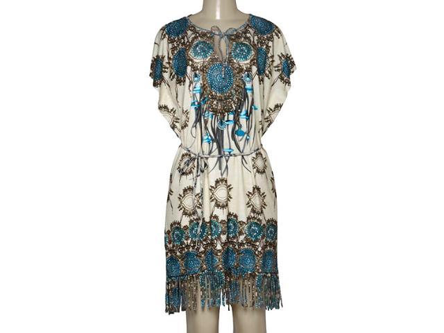 Vestido Feminino Intuição 152509 1965 Bege Estampado