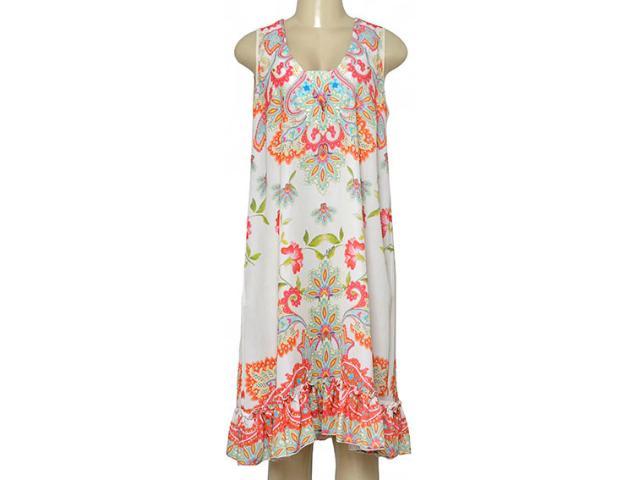 Vestido Feminino Intuição 152551 Off White Estampado Floral