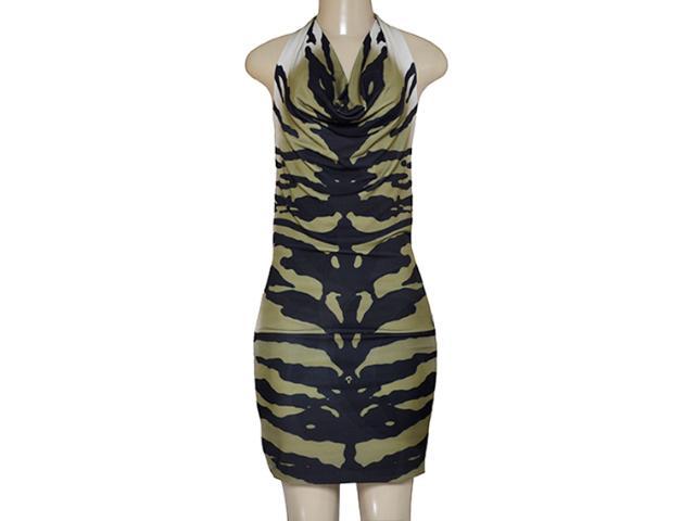 Vestido Feminino Intuição 134492 Musgo/preto
