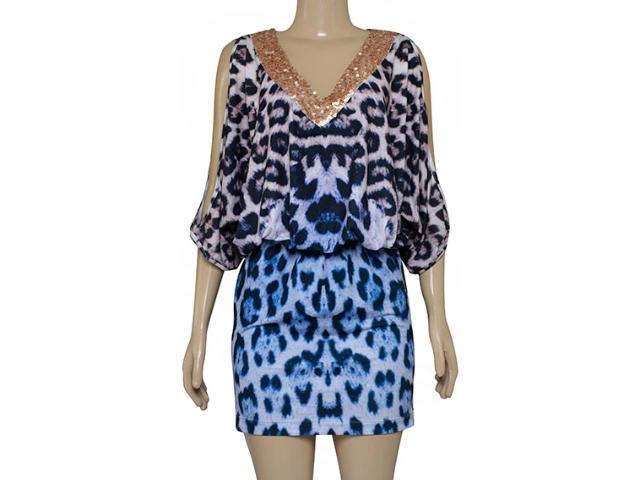 Vestido Feminino Intuição 142211 Onca Azul